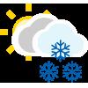 Nuboso con nieve